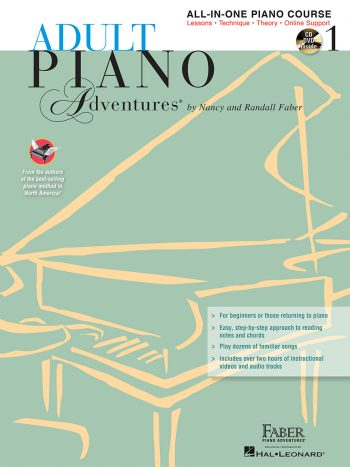 Adult Piano Adventures All-in-One Course Book 1 with CD/DVD Set