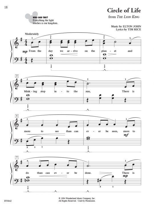 ChordTime® Piano Disney